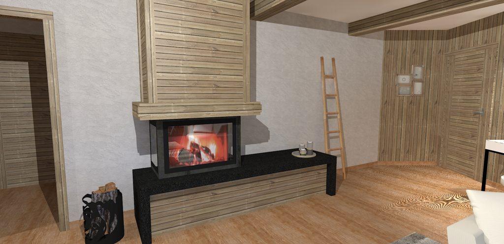 Architecture interieure chalet am nagement chalet haute for Garde meuble haute savoie