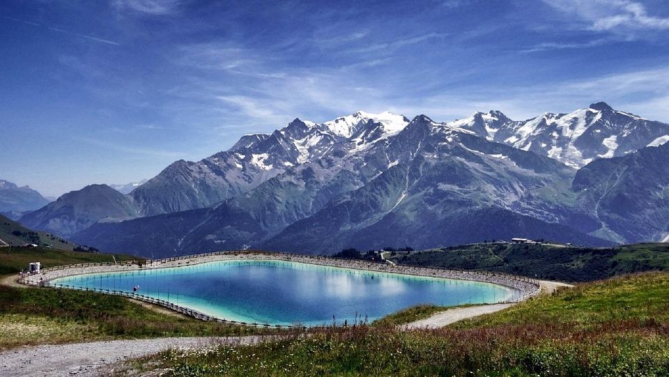 Vue Mont Blanc depuis domaine Megève