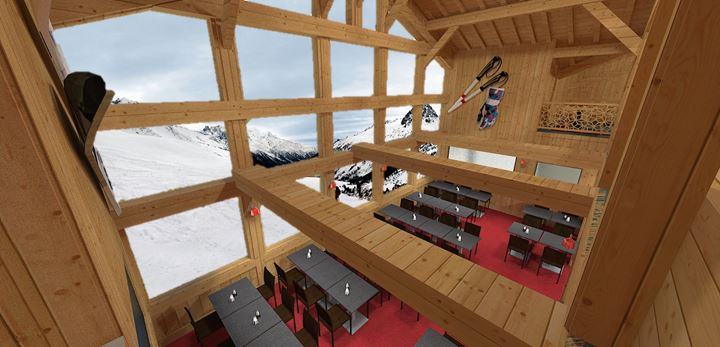architecture int rieur restaurant chamonix d coration. Black Bedroom Furniture Sets. Home Design Ideas