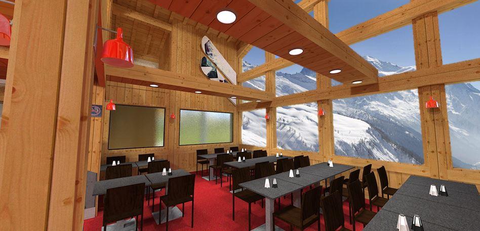 rénovation restaurant altitude Chamonix