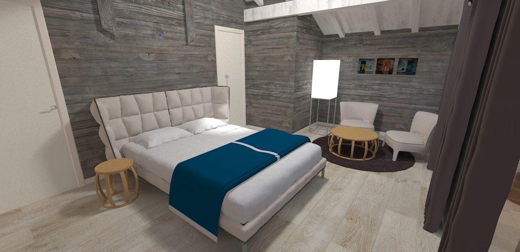 Décoration chambre design chalet montagne