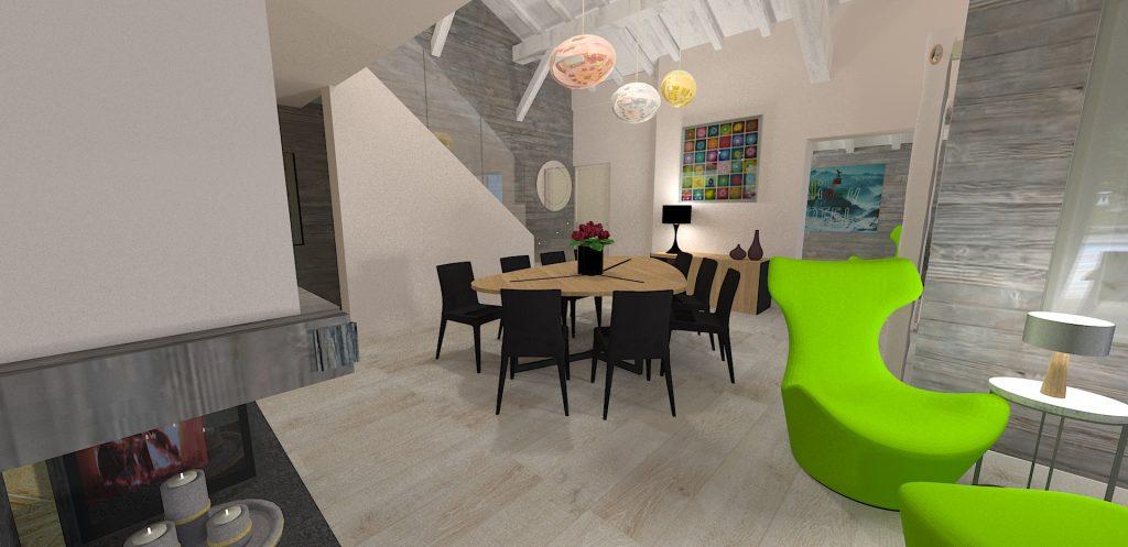 Décoration design chalet Chamonix