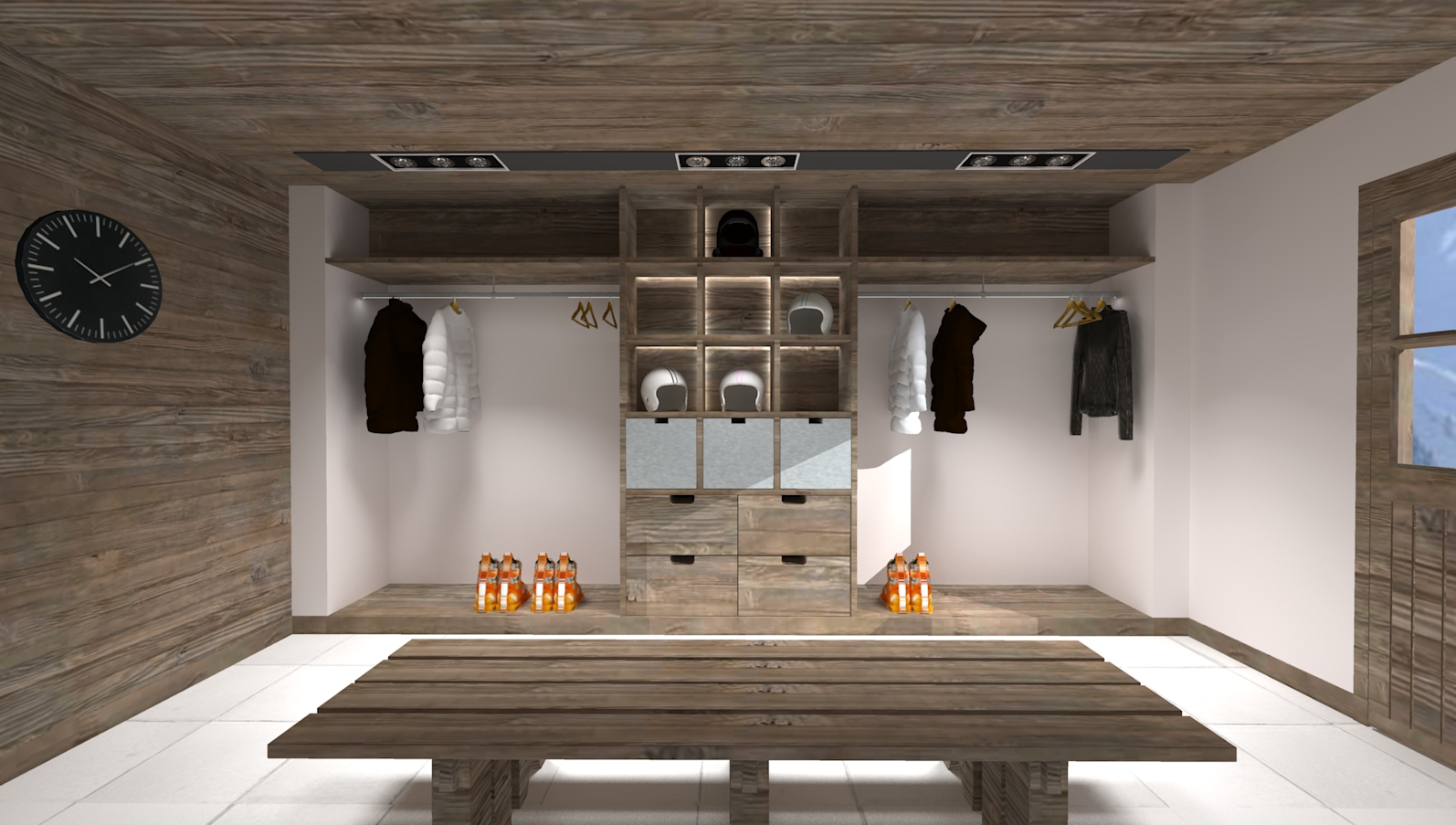 le ski room chamonix mars 2018 aura projets d 39 int rieur. Black Bedroom Furniture Sets. Home Design Ideas