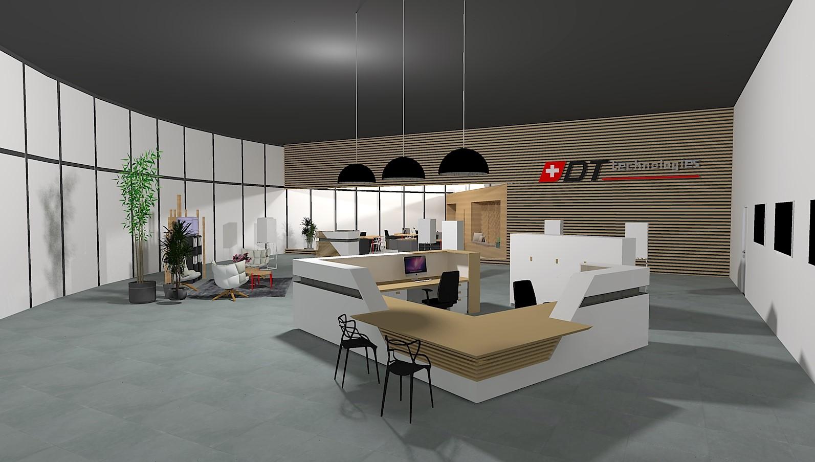 agencement showroom industrie marnaz en cours aura. Black Bedroom Furniture Sets. Home Design Ideas