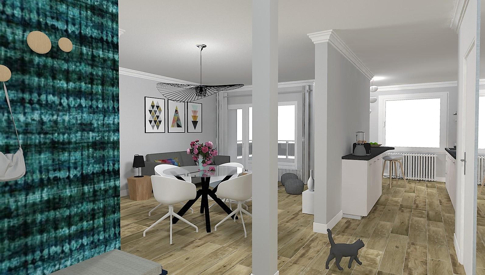 d cloisonnement pi ce vivre d cembre 2018 aura. Black Bedroom Furniture Sets. Home Design Ideas