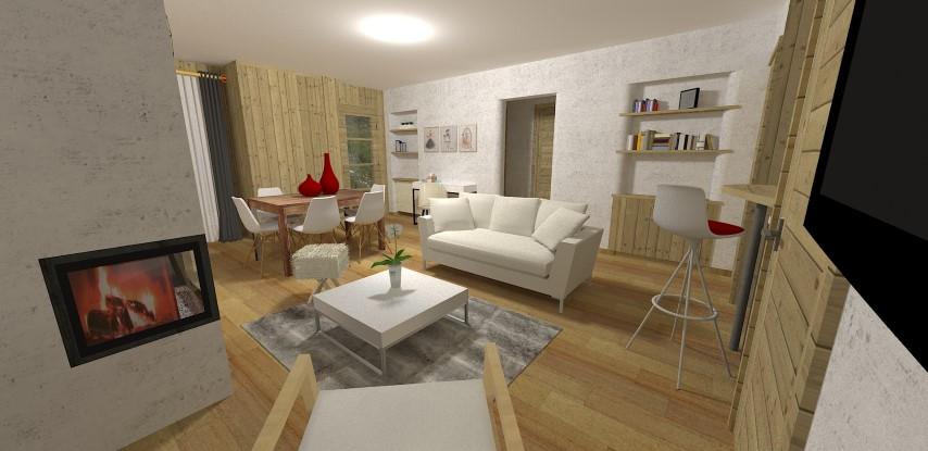 Décoration intérieur studio megeve