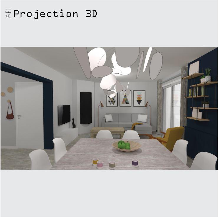 Projection 3D rénovation maison Passy